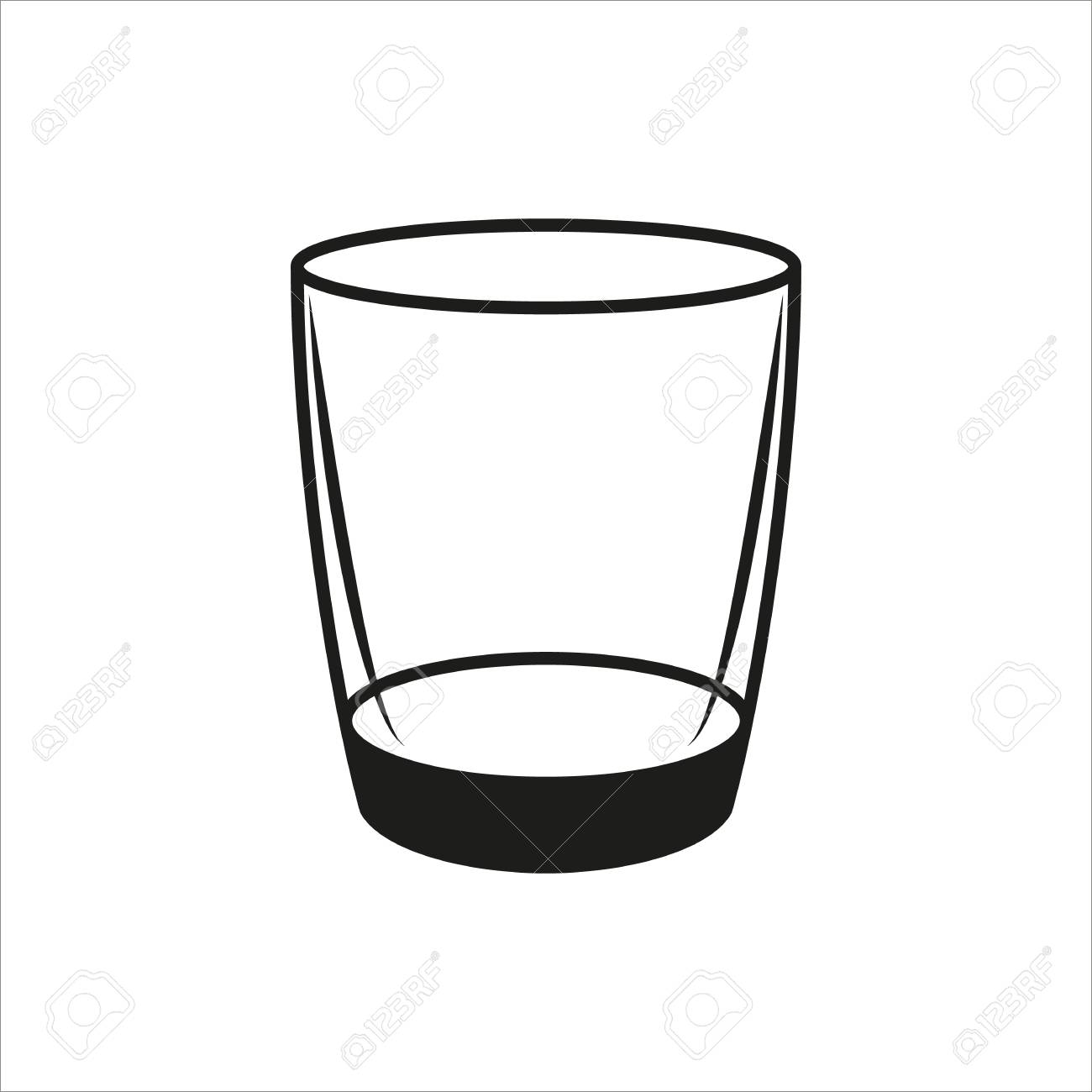 empty glass icon created for mobile, web, decor, print products