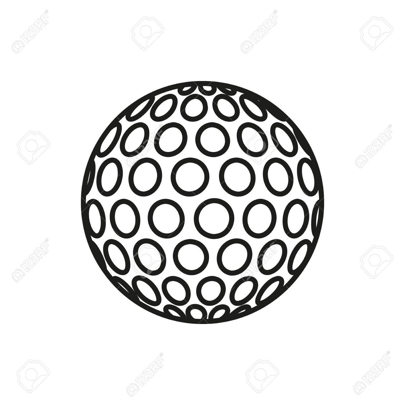 golf ball icon on white background elements for company print rh 123rf com vector golf ball on tee vector golf ball tees