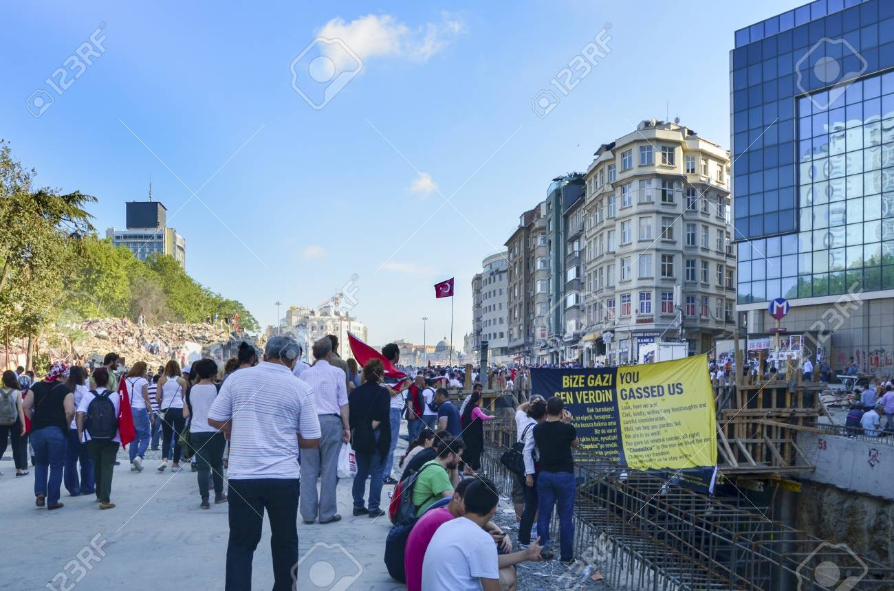Istanbul, Turkey - June 9, 2013: The view from Taksim Square