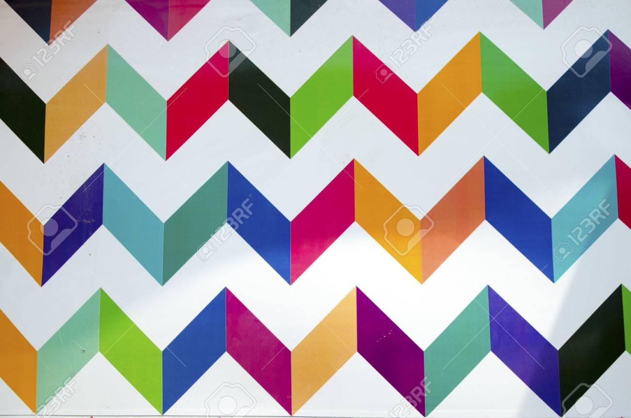 Peinture Murale De Fond Géométrique Colorée Effet De Peinture Géométrique Sur Un Mur