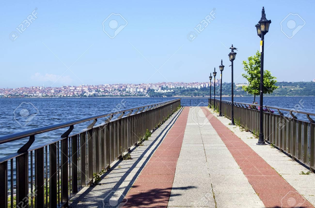 Lake Kucukcekmece (Turkish: Kucukcekmece Golu) is a lagoon located between the Kucukcekmece, Esenyurt and Avcilar districts of the European portion of Istanbul Province, northwestern Turkey. - 71015263