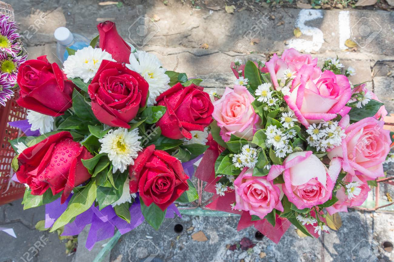 Many Kind And Color Of Flower Bunch Stock Photo, Picture And Royalty ...