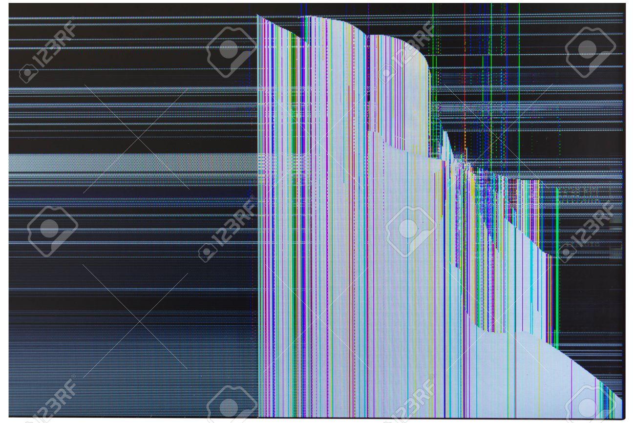 Verre Fissure De Casse Ecran Lcd Tv Isole Sur Fond Blanc Banque D Images Et Photos Libres De Droits Image 65799652