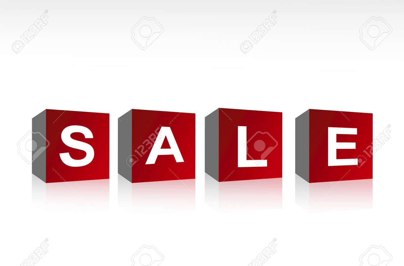Squares sale over white background. Business illustration Stock Photo - 8912417