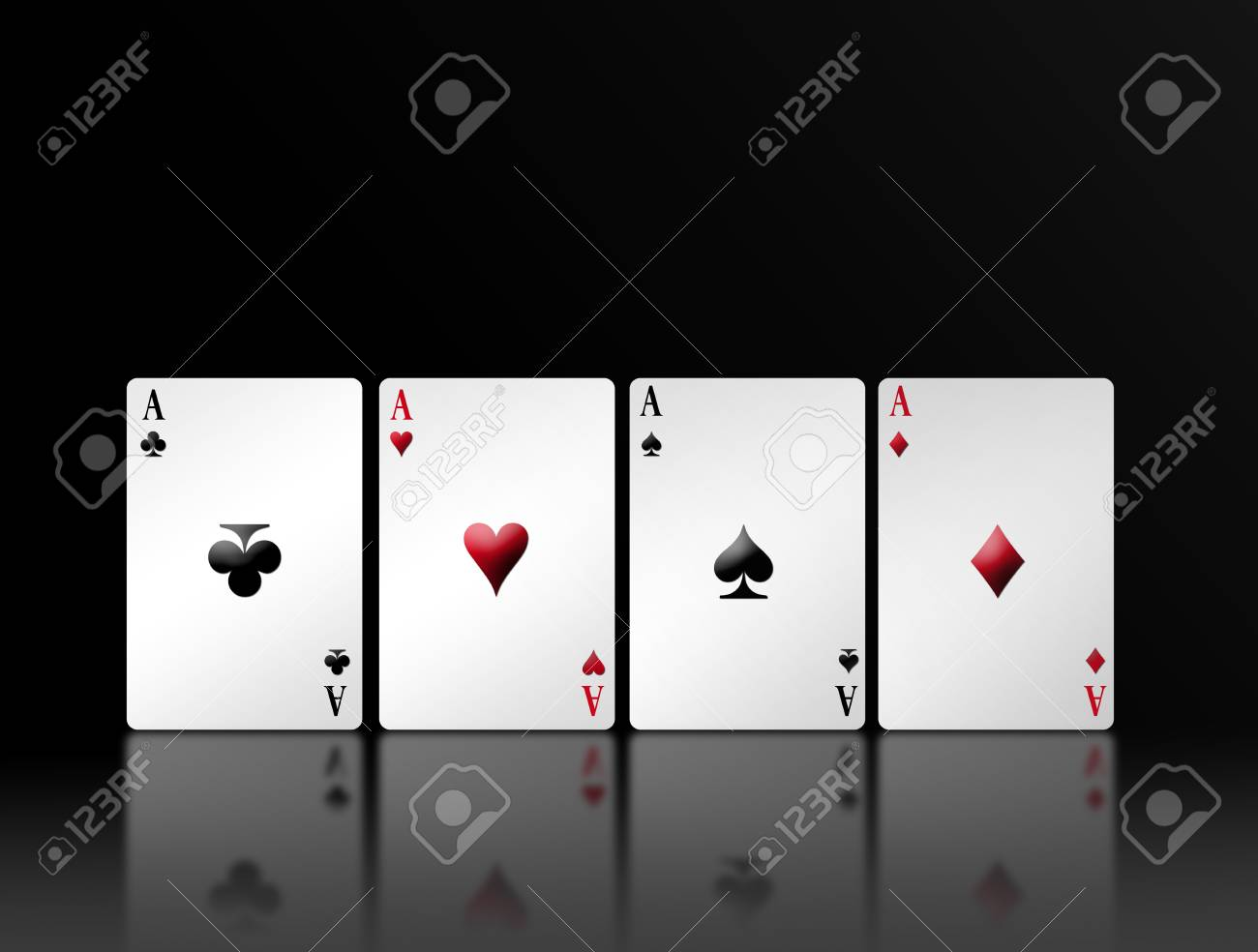 Poker card with shadow and black background. Illustration Stock Illustration - 8912861