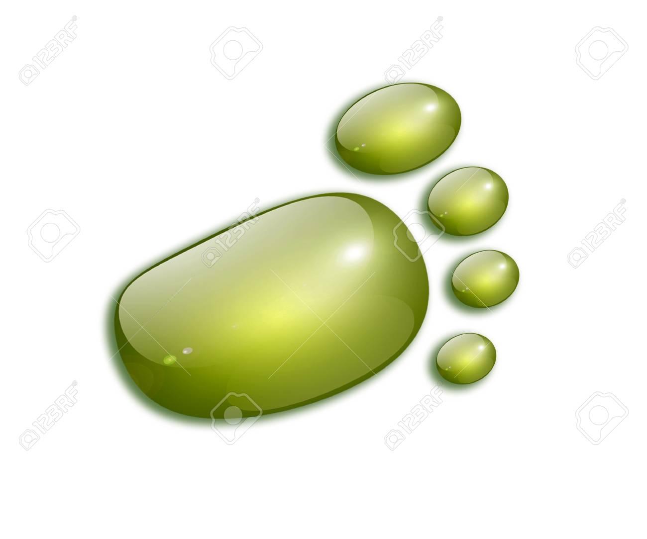 Green footprint over white background. Ecological concept. Illustration Stock Illustration - 9314501