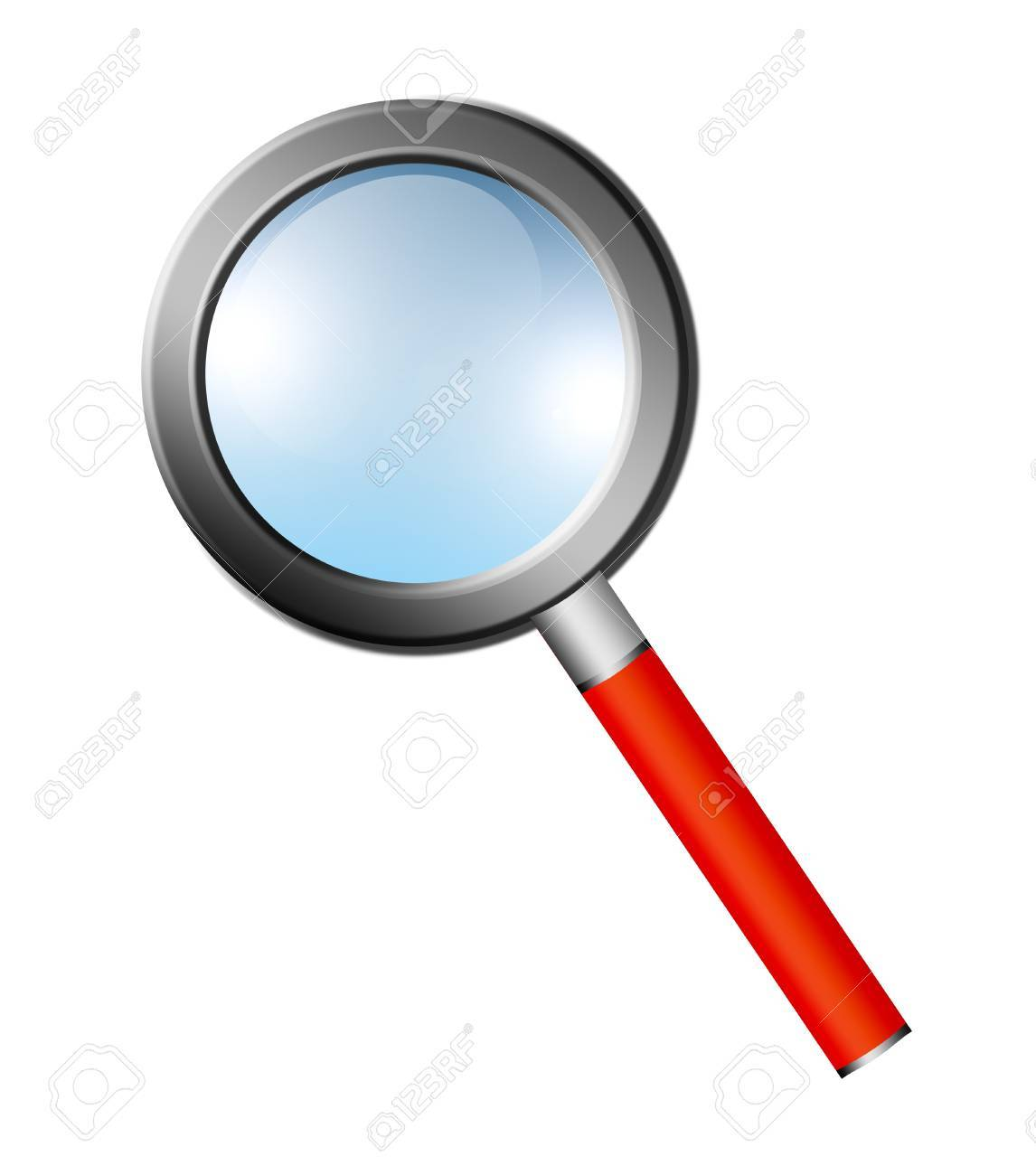 lupe over white backgound. science and  investigation ilustration Stock Photo - 9667068