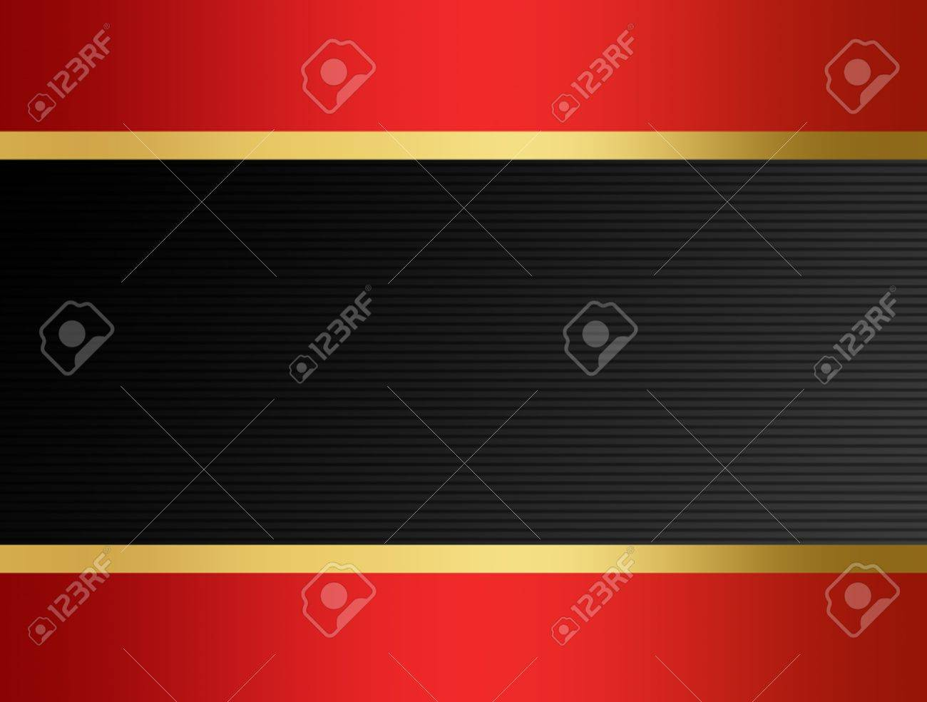 gray background with red frame and  golden ribbon across Stock Photo - 9667412