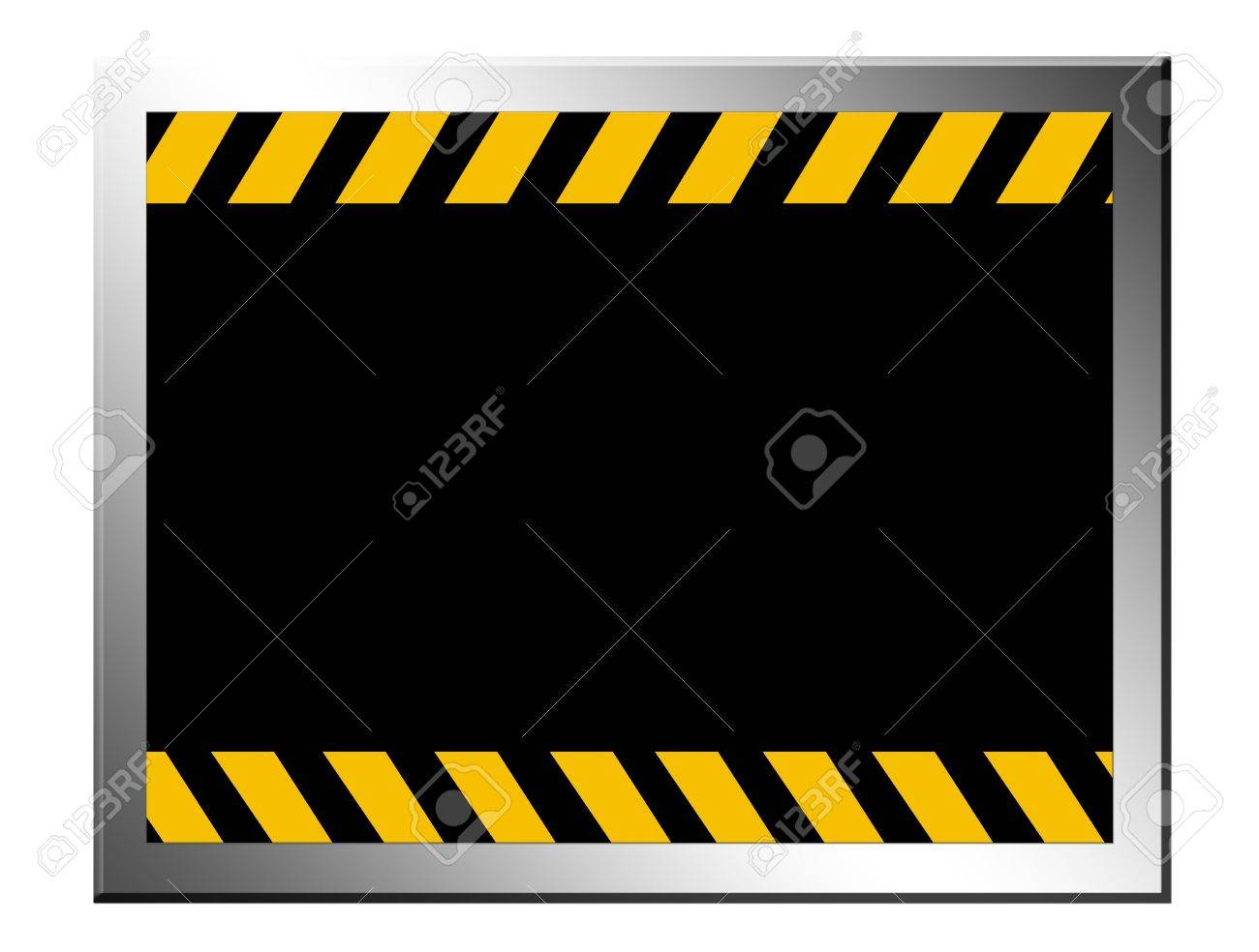 Black  board with yellow lines. cauttion advertisement, space to insert text or design Stock Photo - 9692858