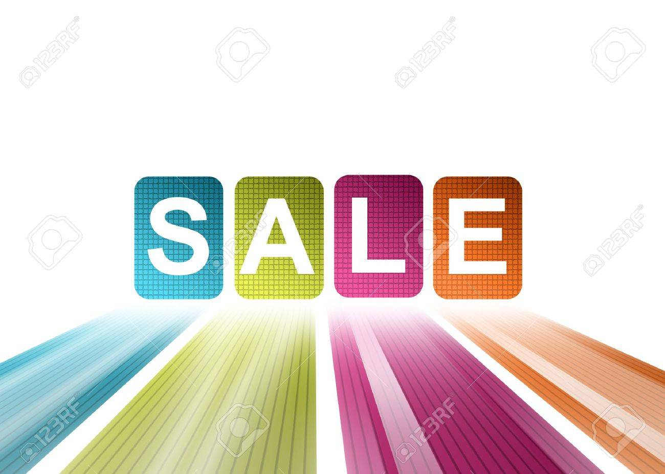 Blue, green, purple and orange sale illustration Stock Illustration - 9693837