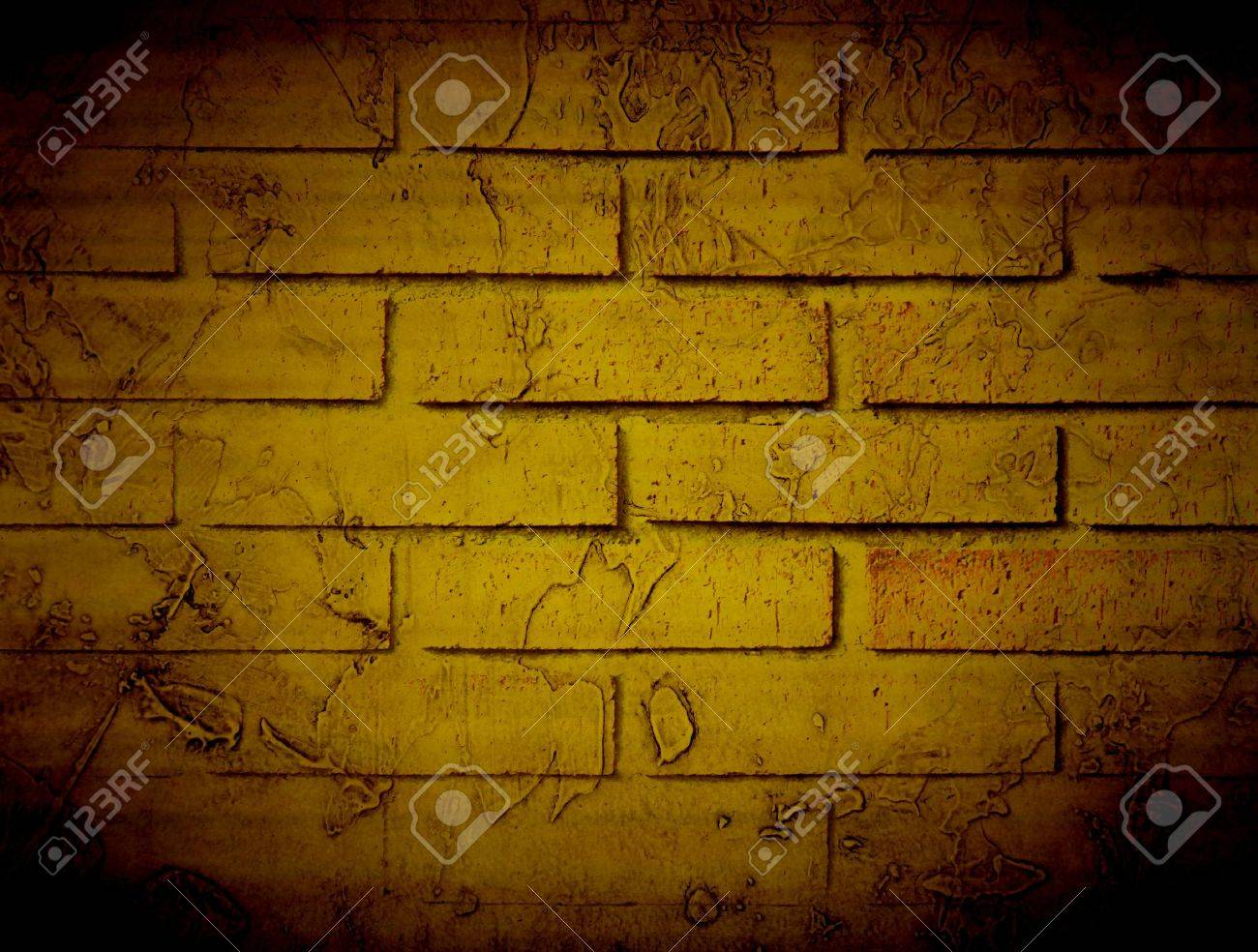 Old bricks wall, brown vintage style. Illustration Stock Photo - 9696794