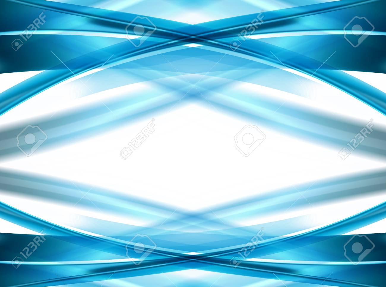Blue waves over white background. abstract illustration Stock Illustration - 9694222