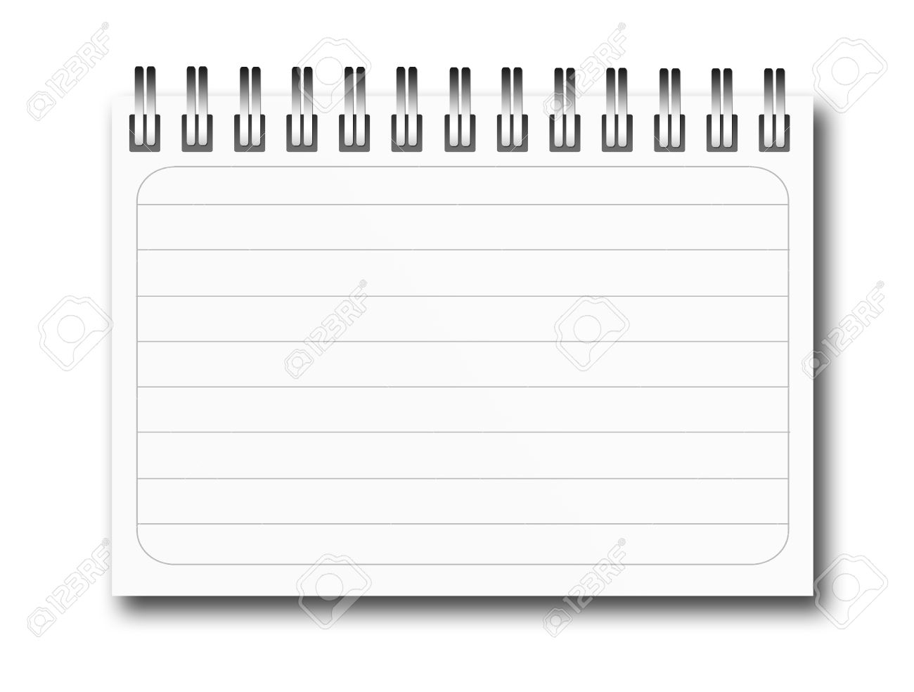 White Ring Notebook With Lines, Empty. Ready To Insert Text Or ...