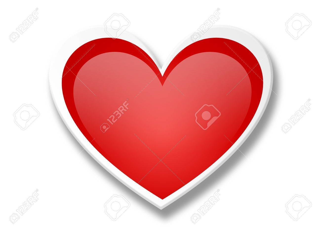 Hearth Love Over White Background. Valentineu0027s Day Greeting Card Stock  Photo   9693240