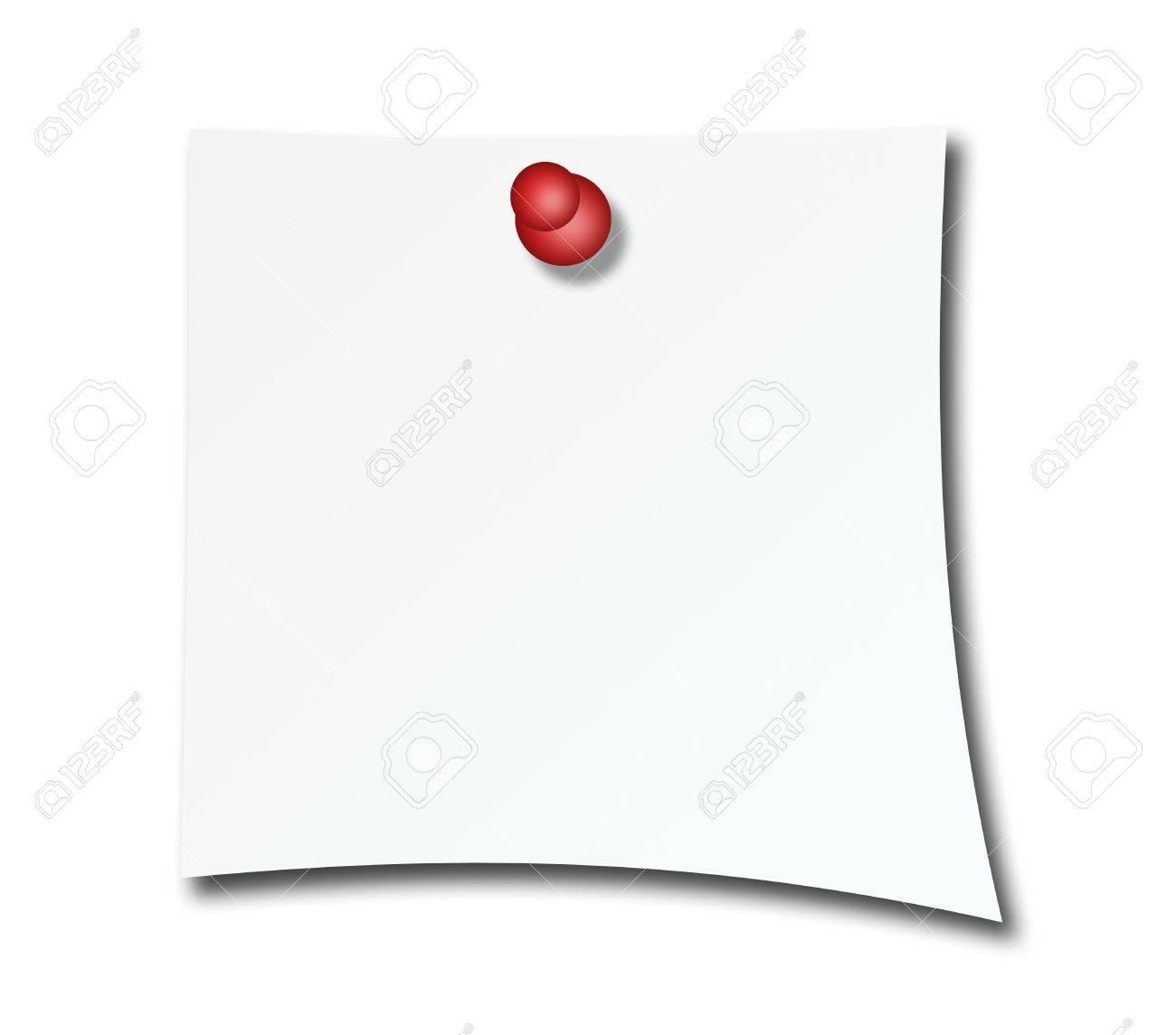 Blank post over white background. Paper illustration Stock Illustration - 9693085