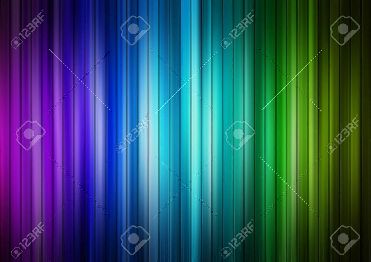 Blue, green and purple lines background, Abstract illustration Stock Photo - 9694048
