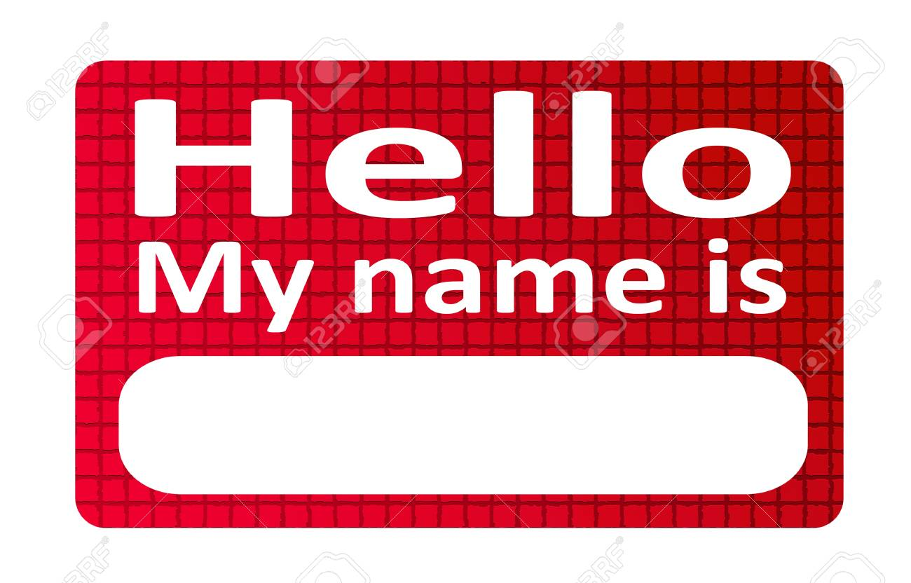 I tag background image - Red And Blank Name Tag Sticker Over White Background Stock Photo 9693613