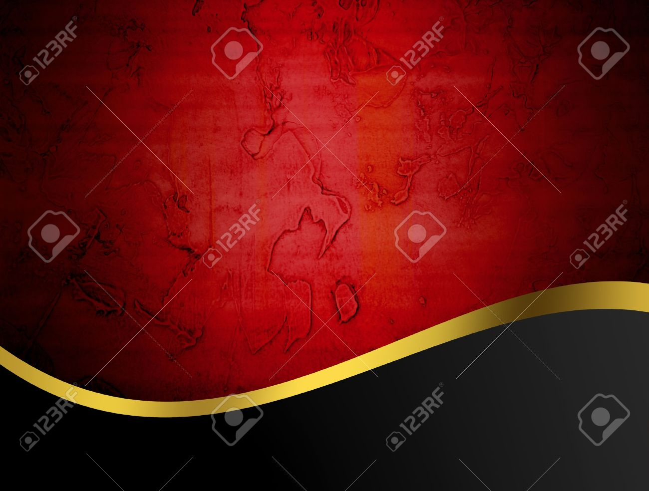 Red, Gold And Black Abstract