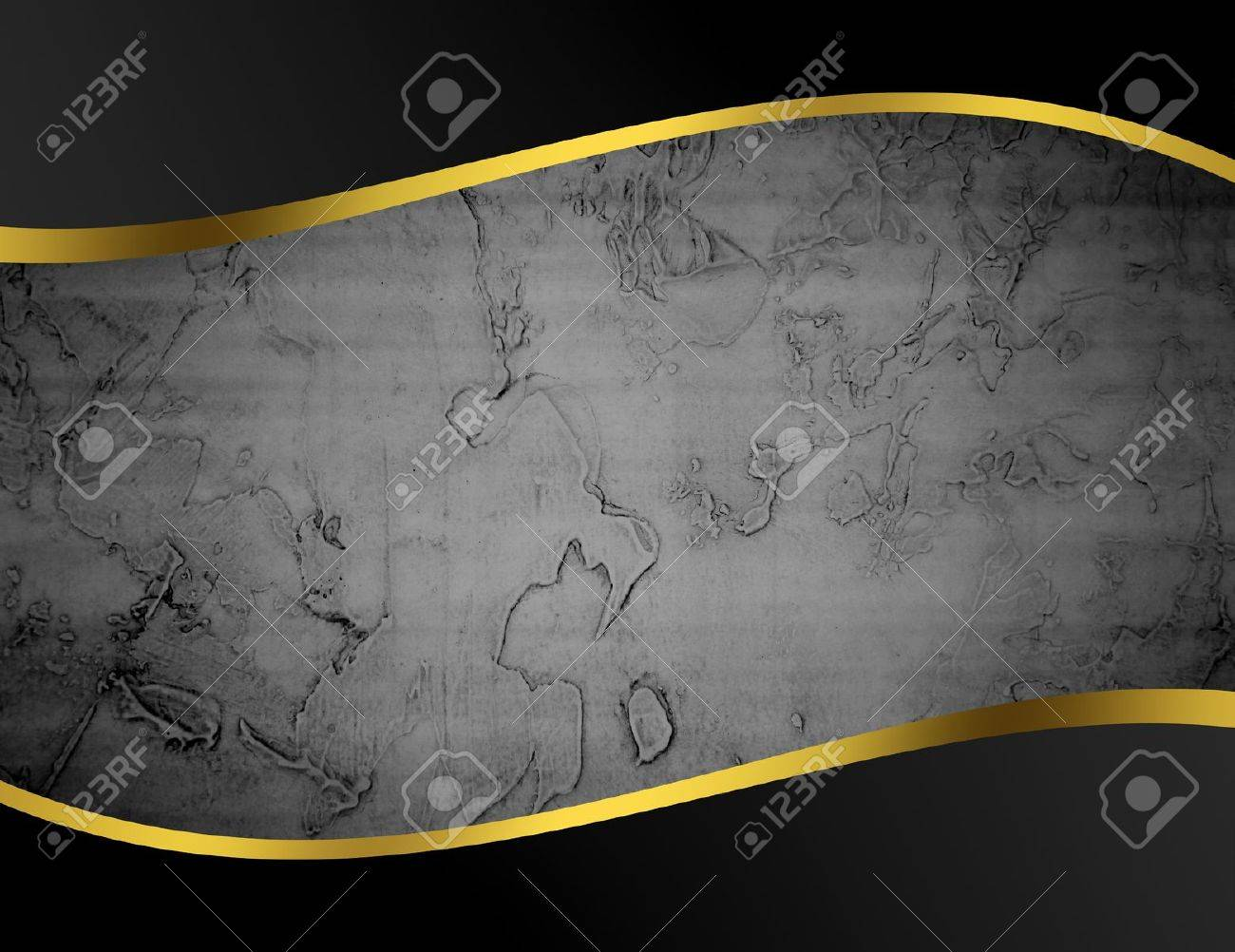 Black, gray and gold abstract background, space to insert text or design Stock Photo - 9696705
