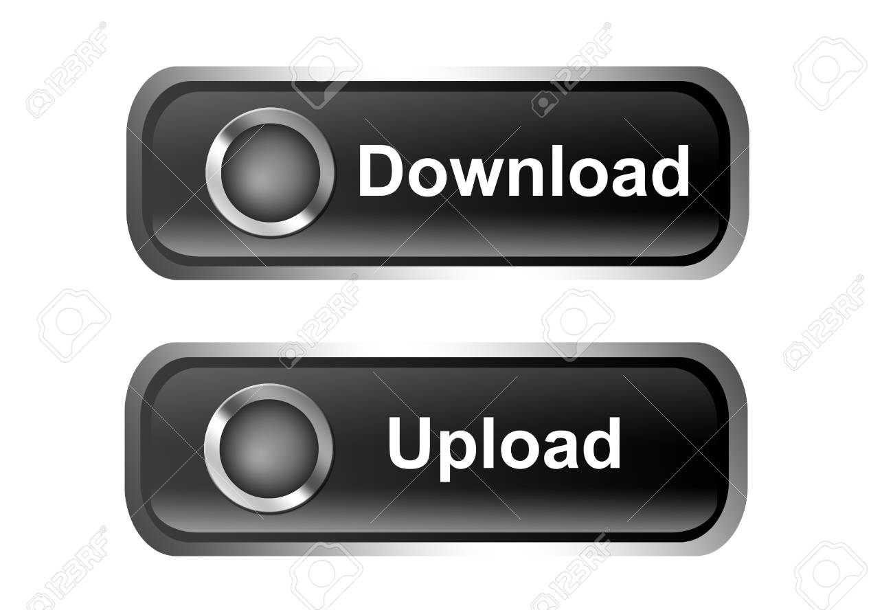 Two buttons with the words download and upload over white background Stock Photo - 9693108