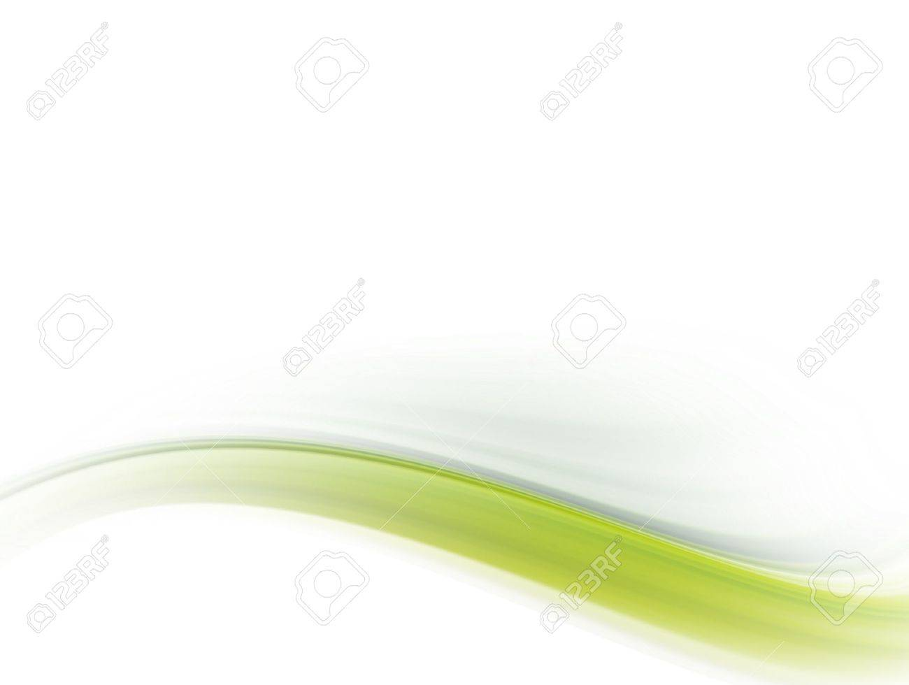 green dynamic wave on white background. Abstract illustrtation Stock Photo - 9696999