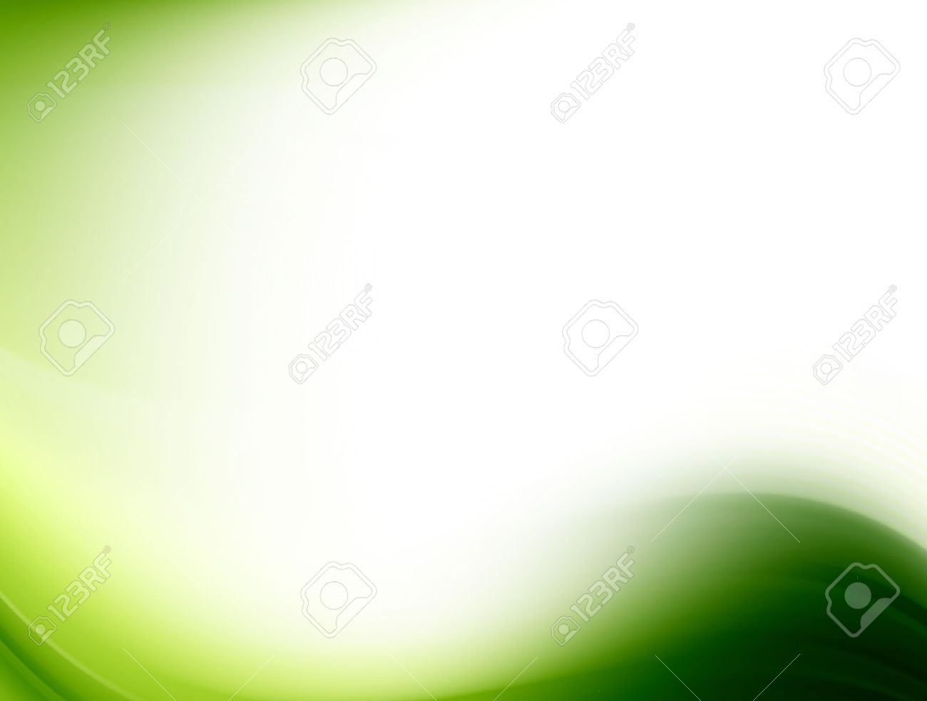 green wave on white background. Abstract illustration Stock Illustration - 9781474