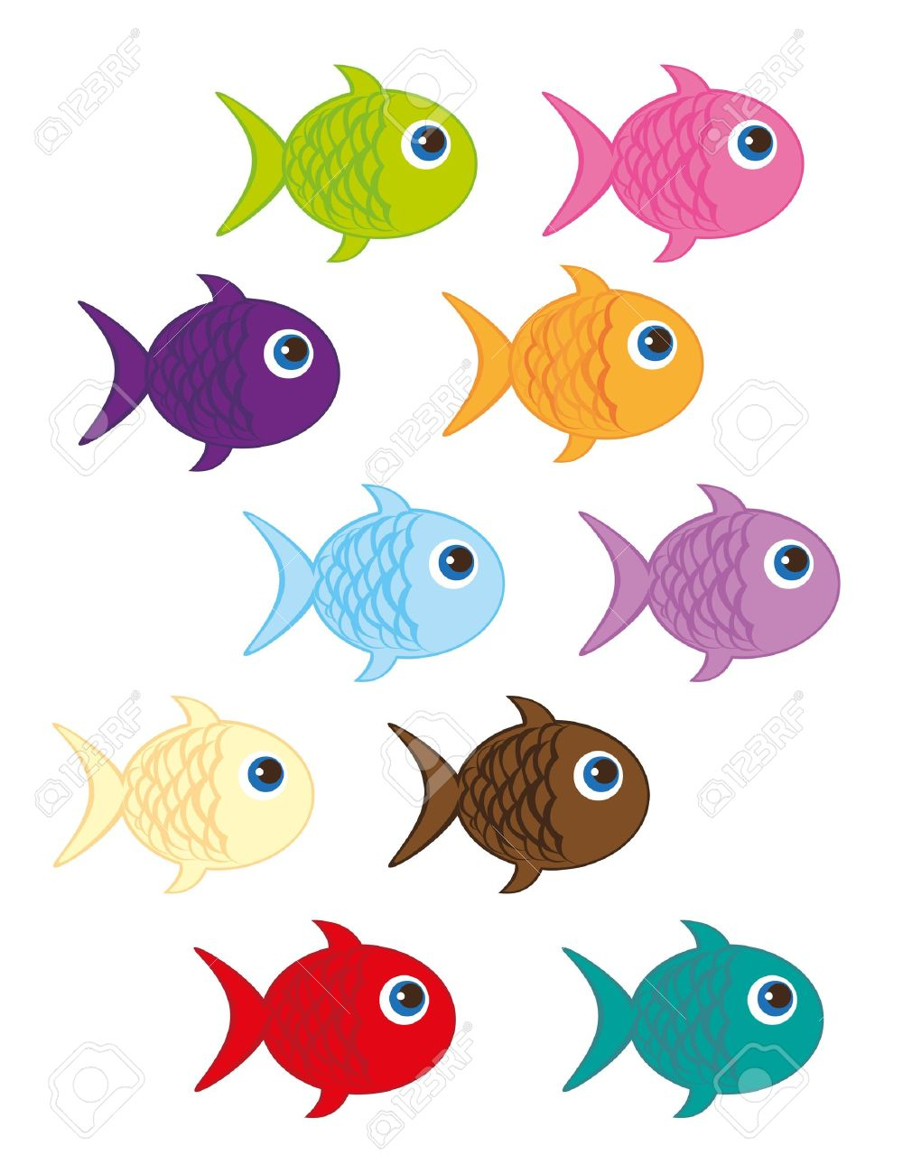 Uncategorized Cute Fish Cartoon cute fish cartoon isolated over white background vector royalty stock 10790198