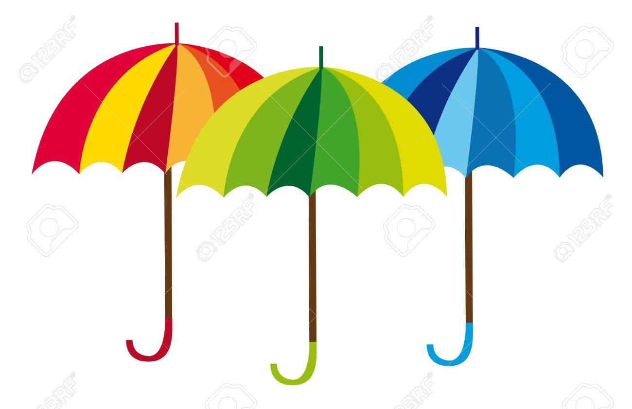 umbrella cartoon isolated over white background. vector Stock Vector - 10790078