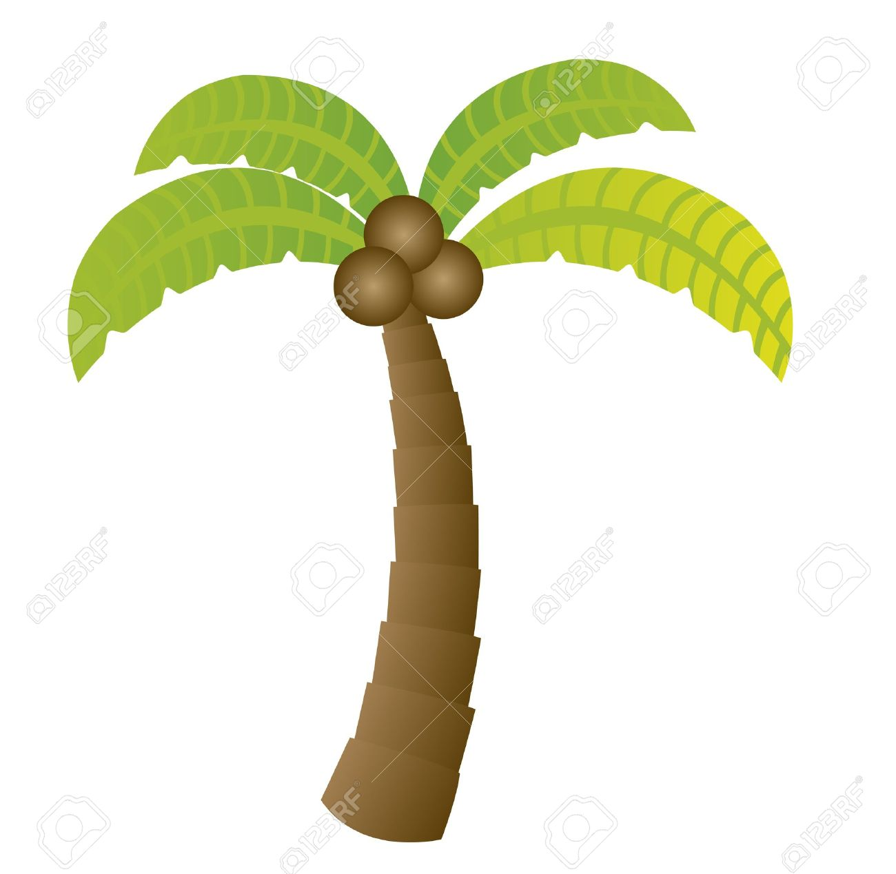 palm cartoon isolated over white background. vector Stock Vector - 10790186