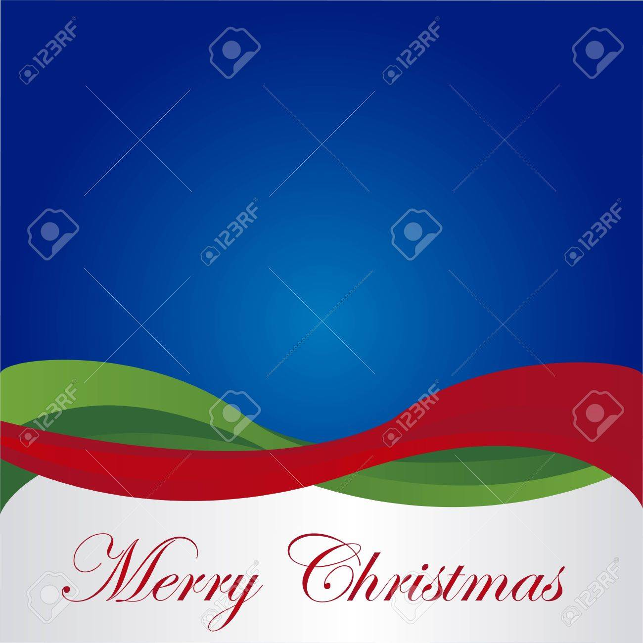 merry christmas over blue background. vector Stock Vector - 10947207