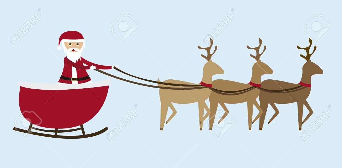 sleigh cartoon  isolated over blue background. vector Stock Vector - 10947259