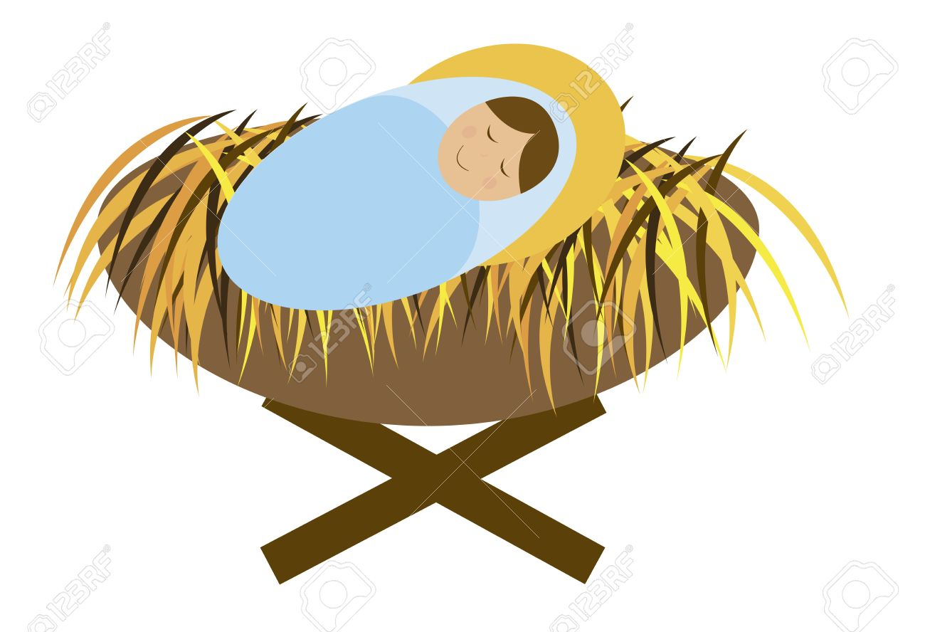 baby jesus isolated over white background vector royalty free