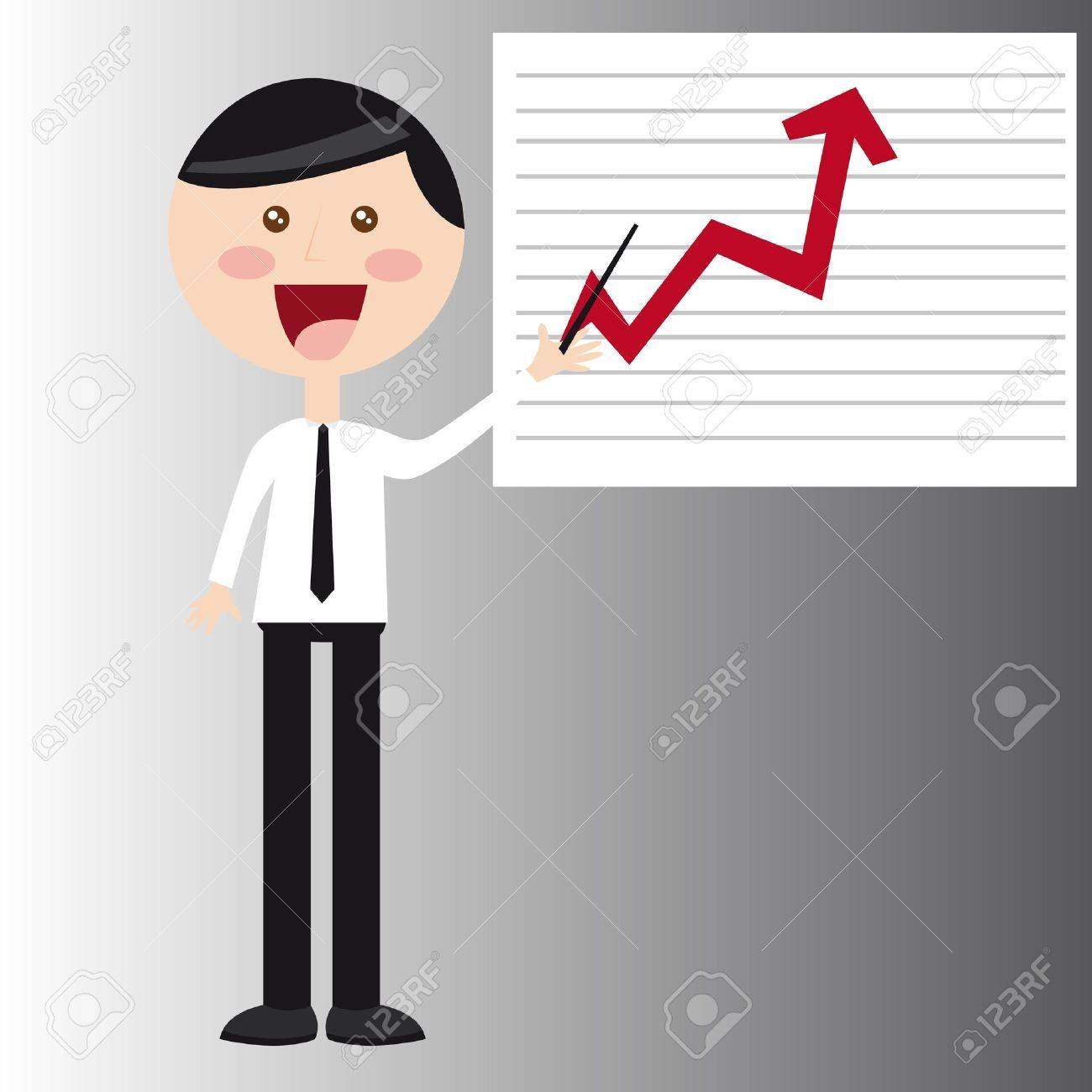 businessman with business graph vector illustration Stock Vector - 11516562