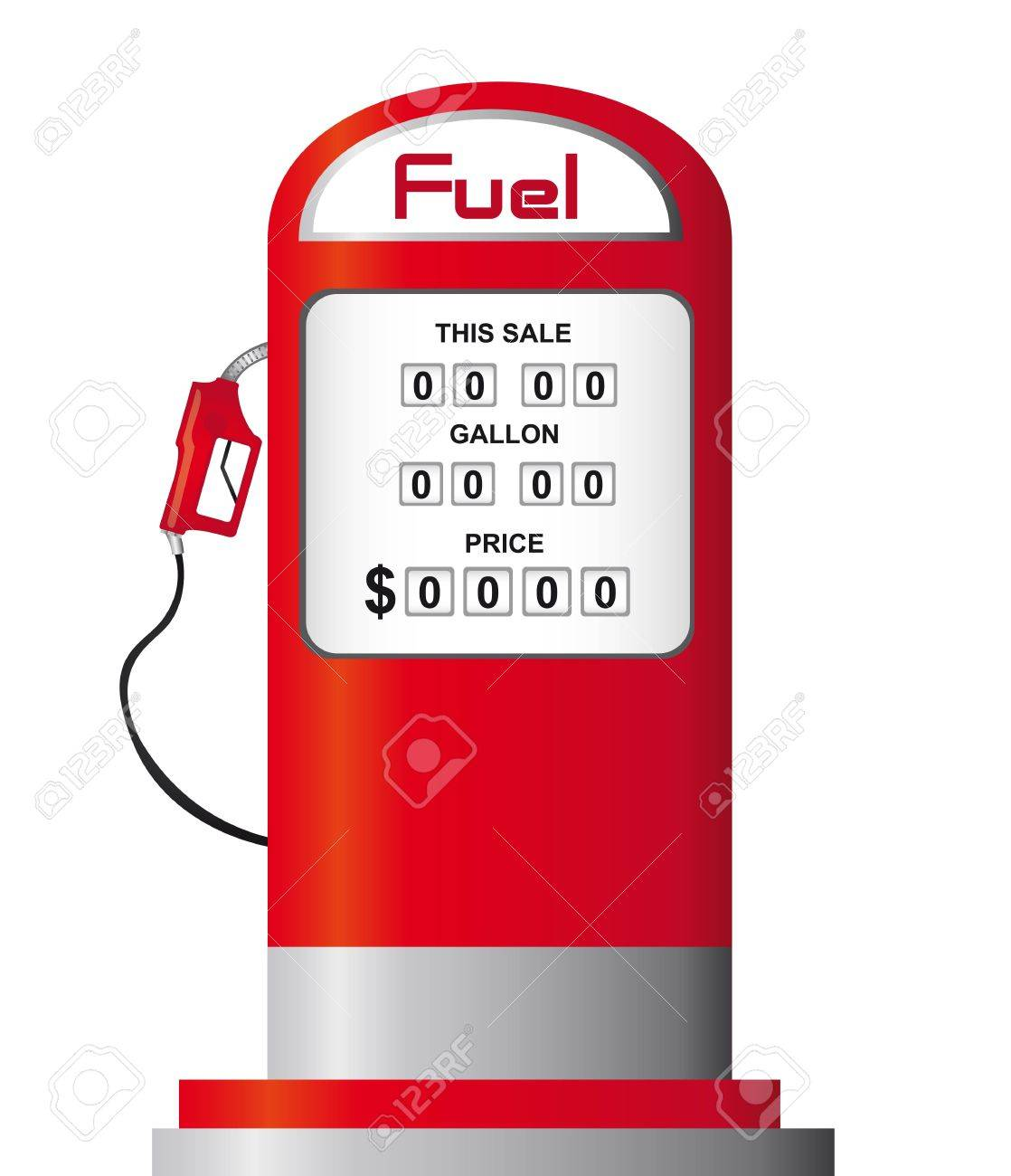 red fuel pump isolated over white background. vector Stock Vector - 11516545