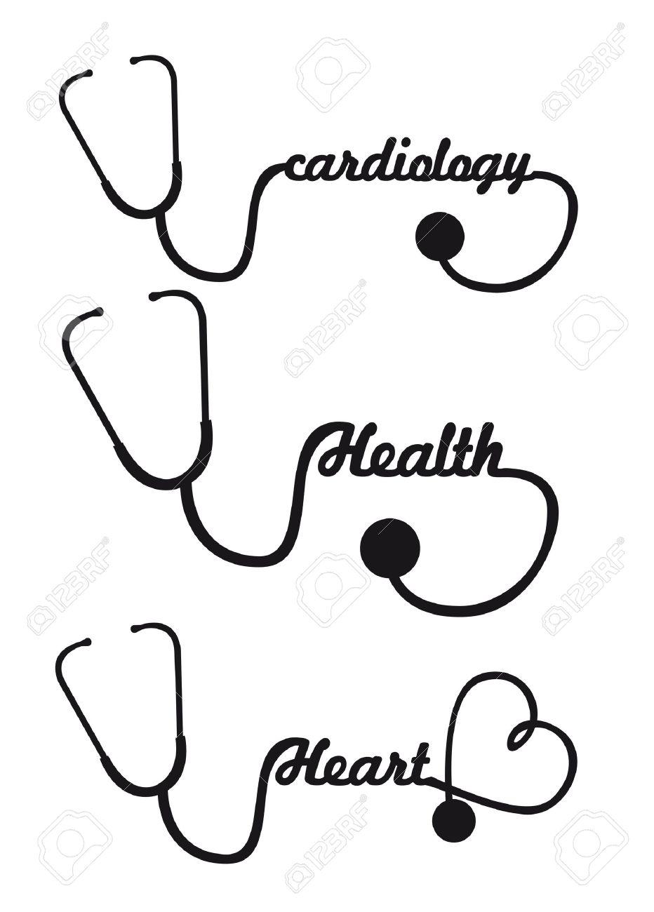 black silhouette stethoscope isolated vector illustration - 11657387
