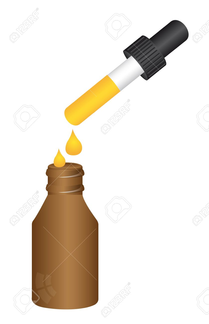 dropper bottle isolated over white background. Stock Vector - 11886137
