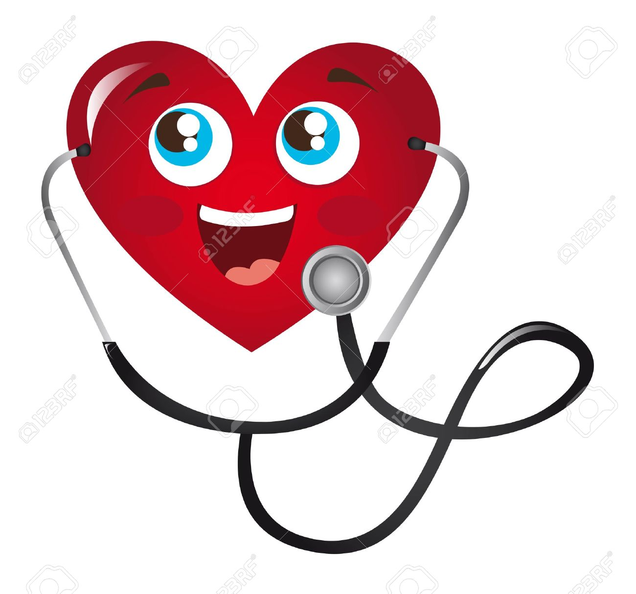 Doctor Listening to Heart Doctor Cartoon Heart With