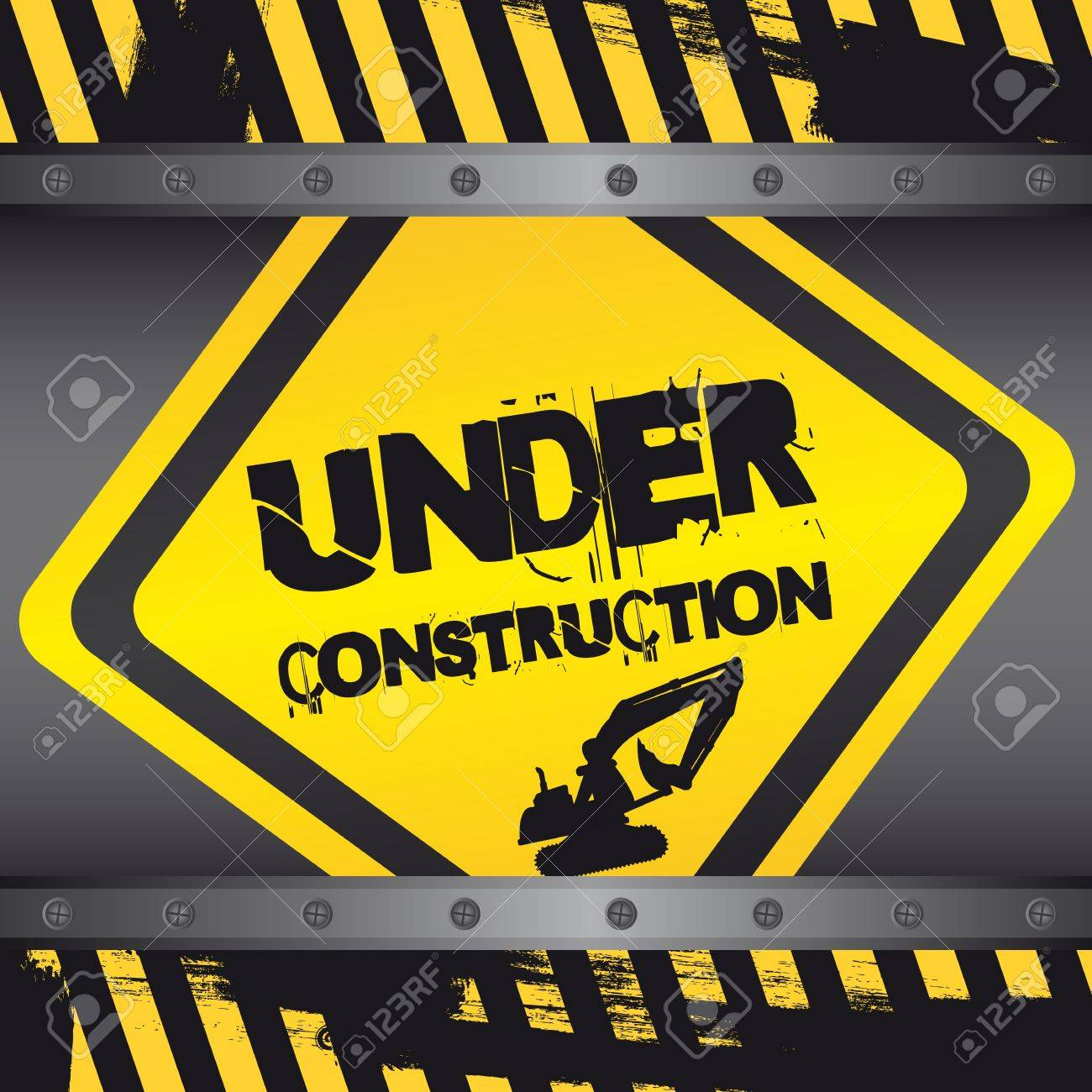 under construction sign with frames background. Stock Vector - 12492889