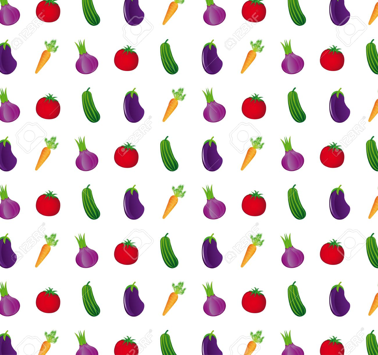 cute vegetables over white background. Stock Vector - 12948286
