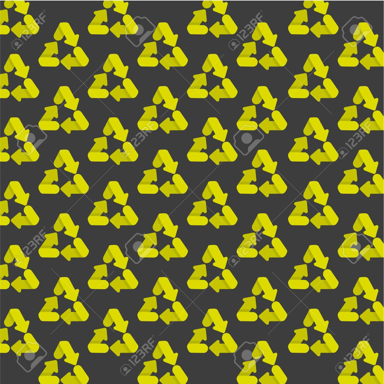 pattern of recycling icons, isolated on gray background. Stock Vector - 13142151