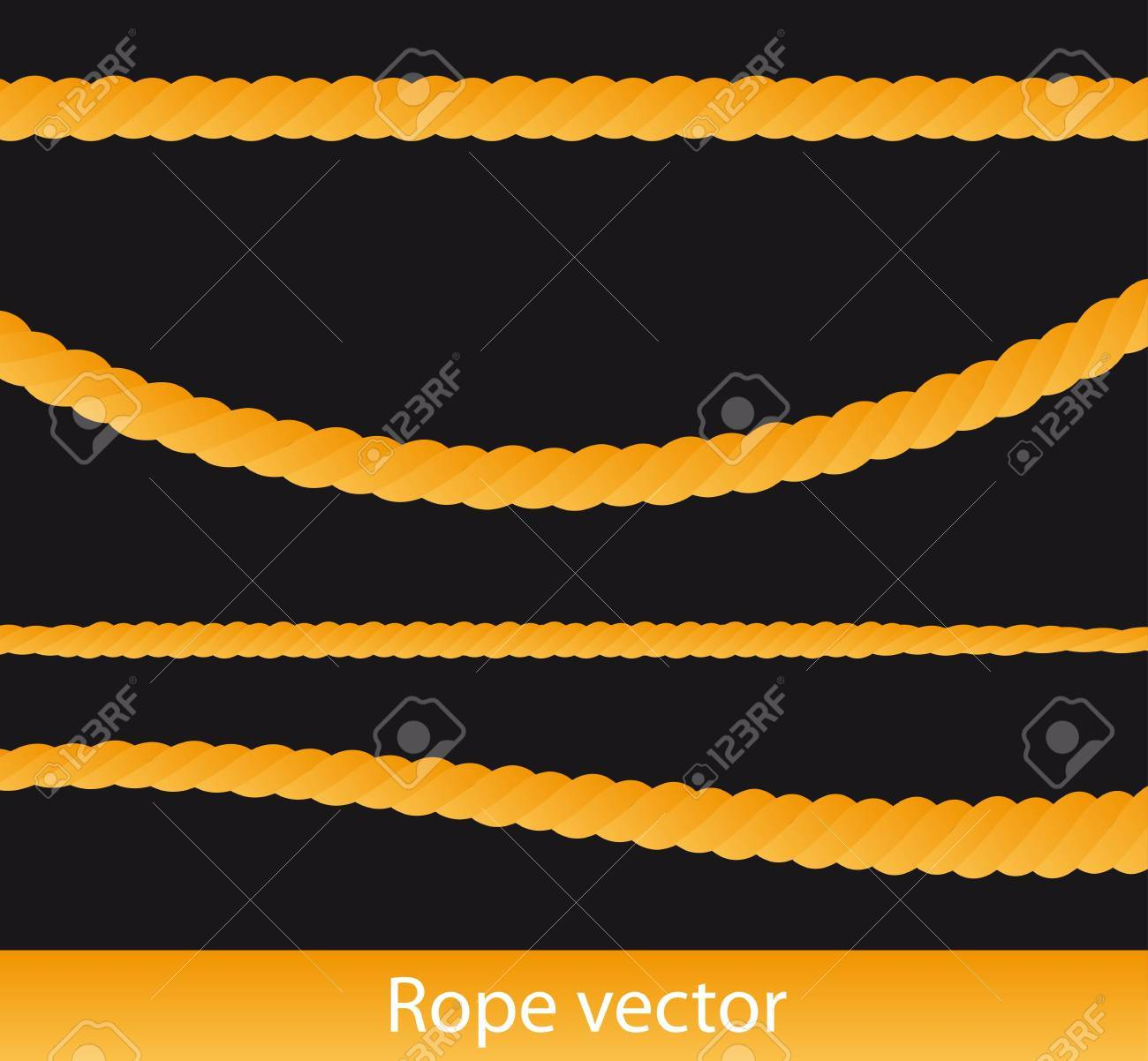 yello rope isolated over black background. Stock Vector - 13331844