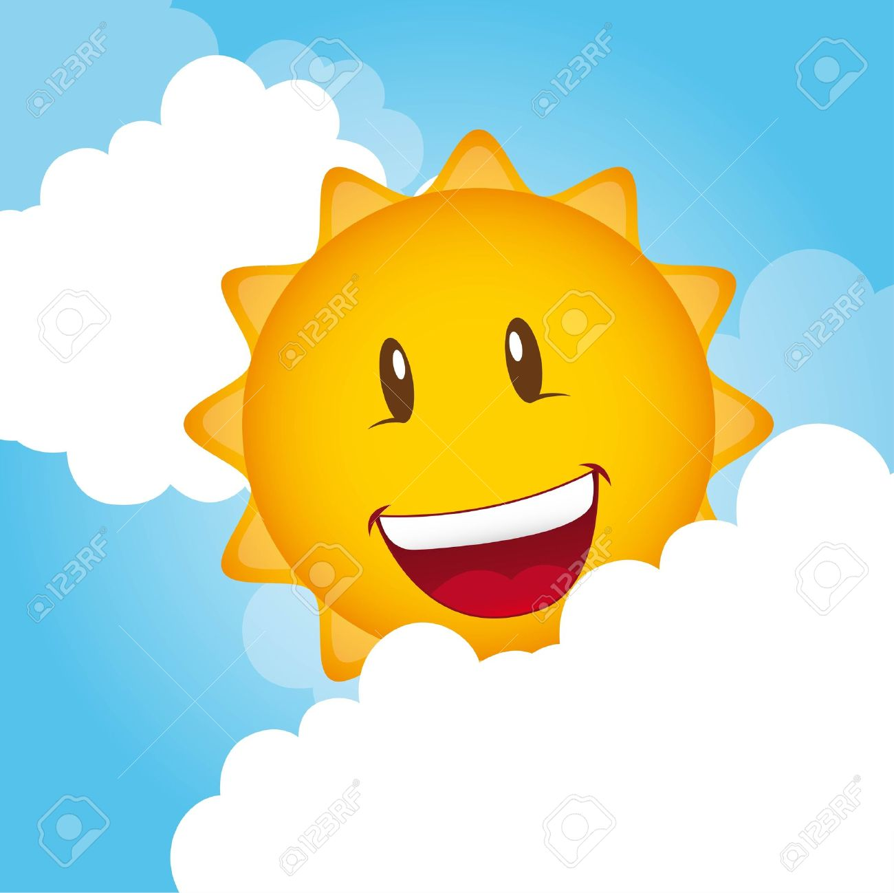 Dibujos Animados de Sol y Nubes de Dibujos Animados Sol Con