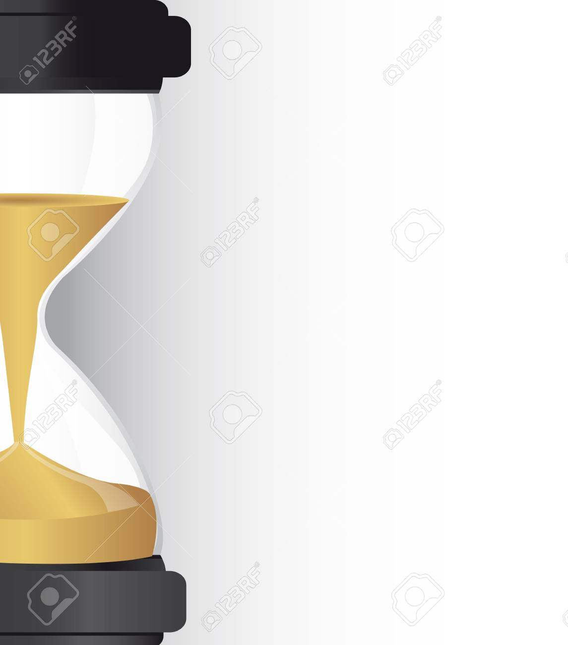 hourglass with sand with space for copy, background. vector illustration Stock Vector - 13599510