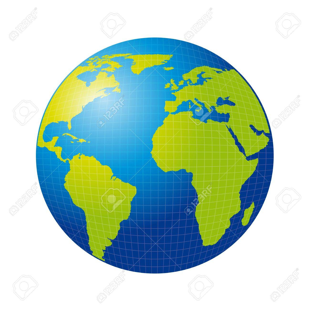 3d earth isolated over white background. vector illustration Stock Vector - 13600090