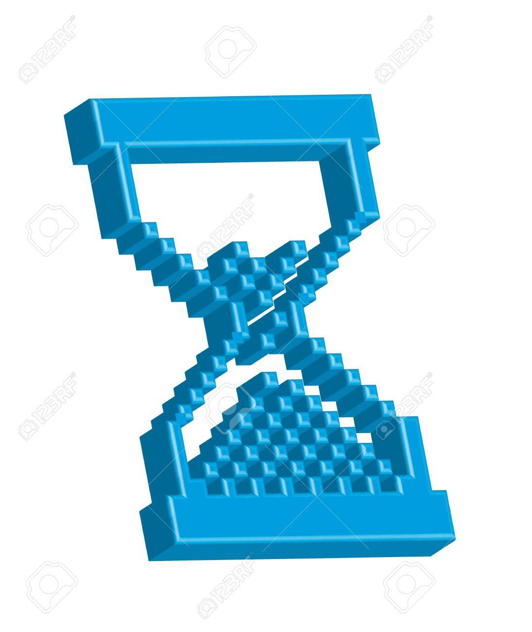 3d cursor hourglass isolated over white background. vector Stock Vector - 13600112