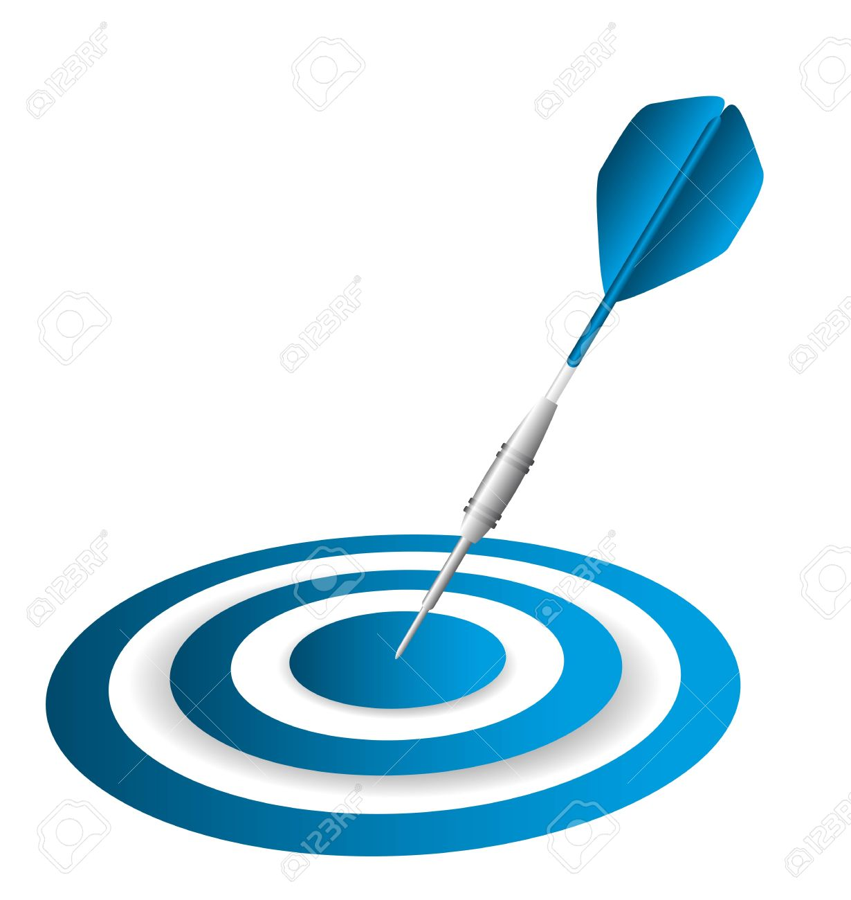 blue dart and dartboard isolated over white background. vector Stock Vector - 13755243