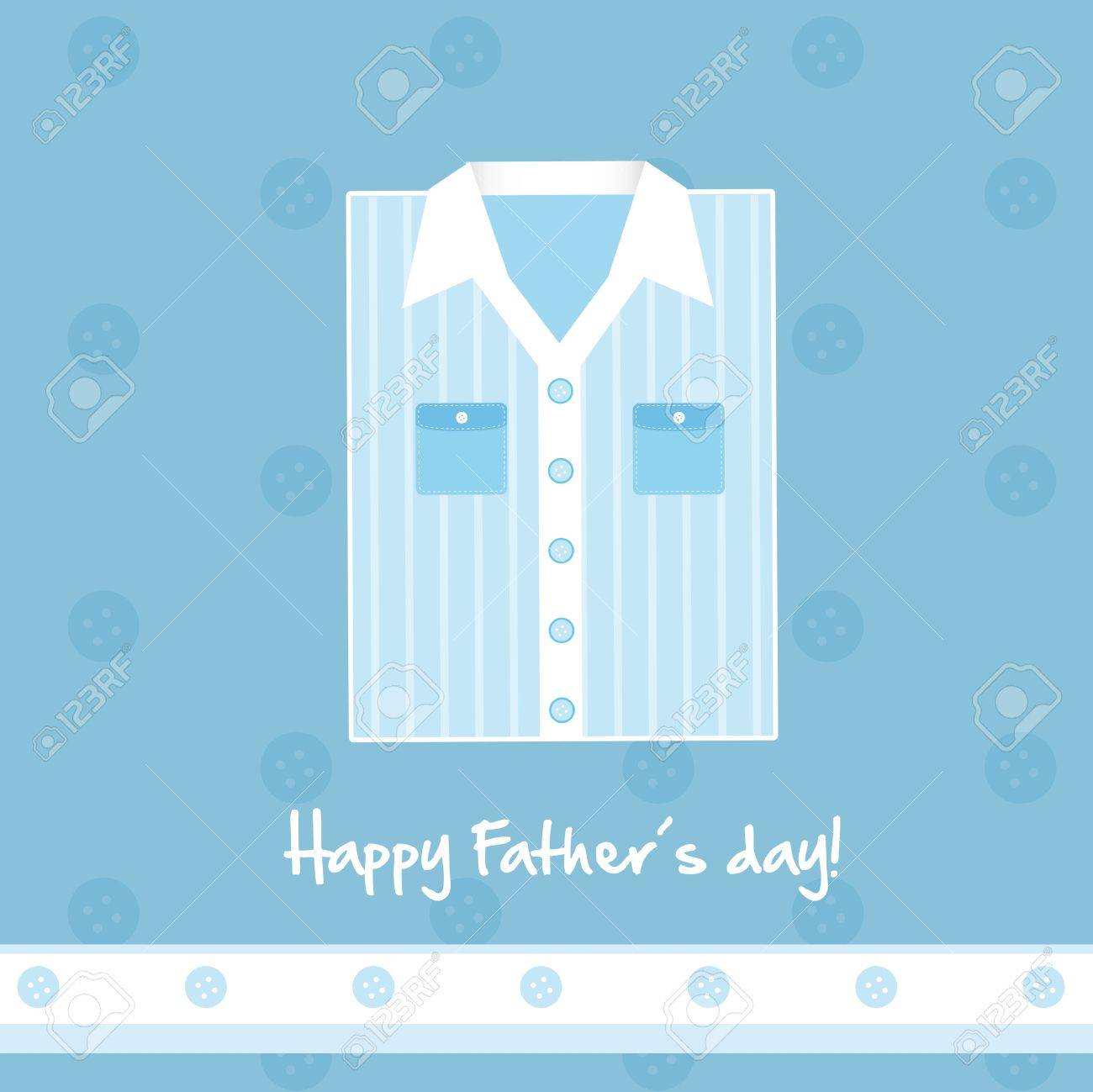 cute blue shirt card, happy fathers day. vector illustration Stock Vector - 13755289