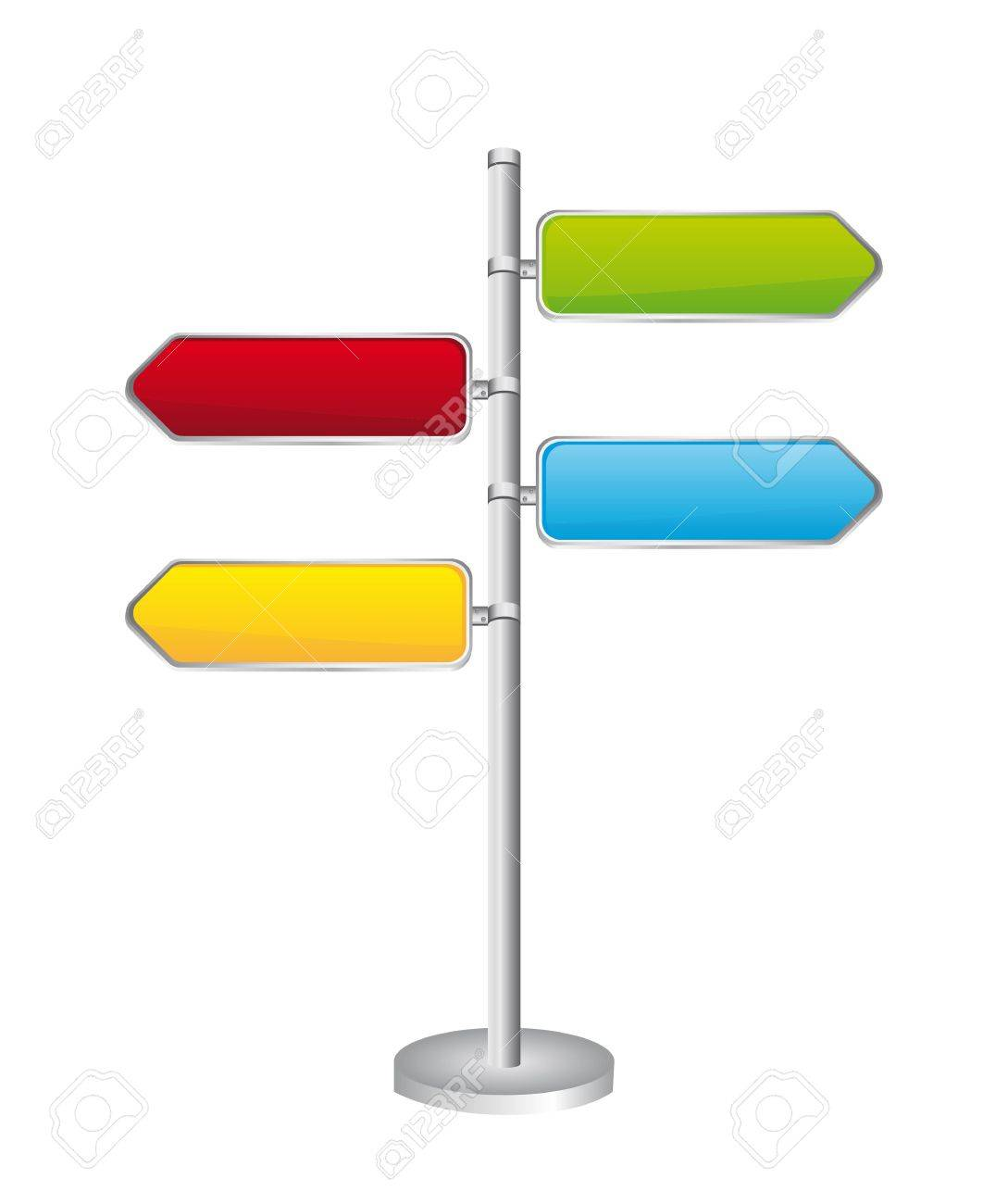 Direction road signs isolated over white background. Stock Vector - 13882025