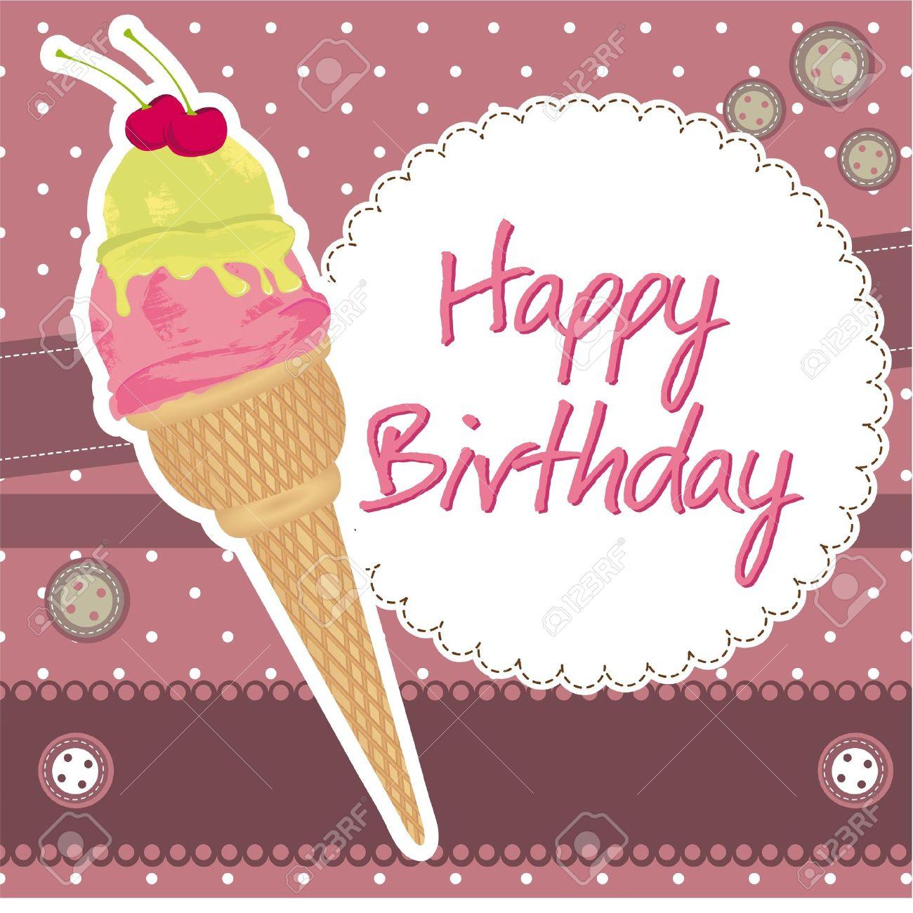 Поздравление с днем рождения мороженое