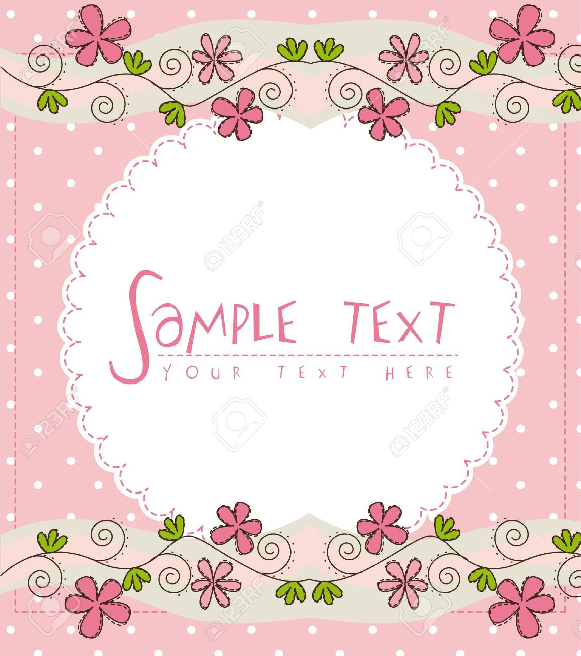 Pink cute card with flower over pink background royalty free pink cute card with flower over pink background stock vector 14215131 voltagebd Gallery